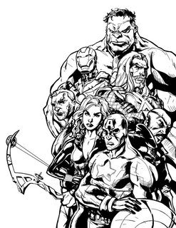 The Avengers to color