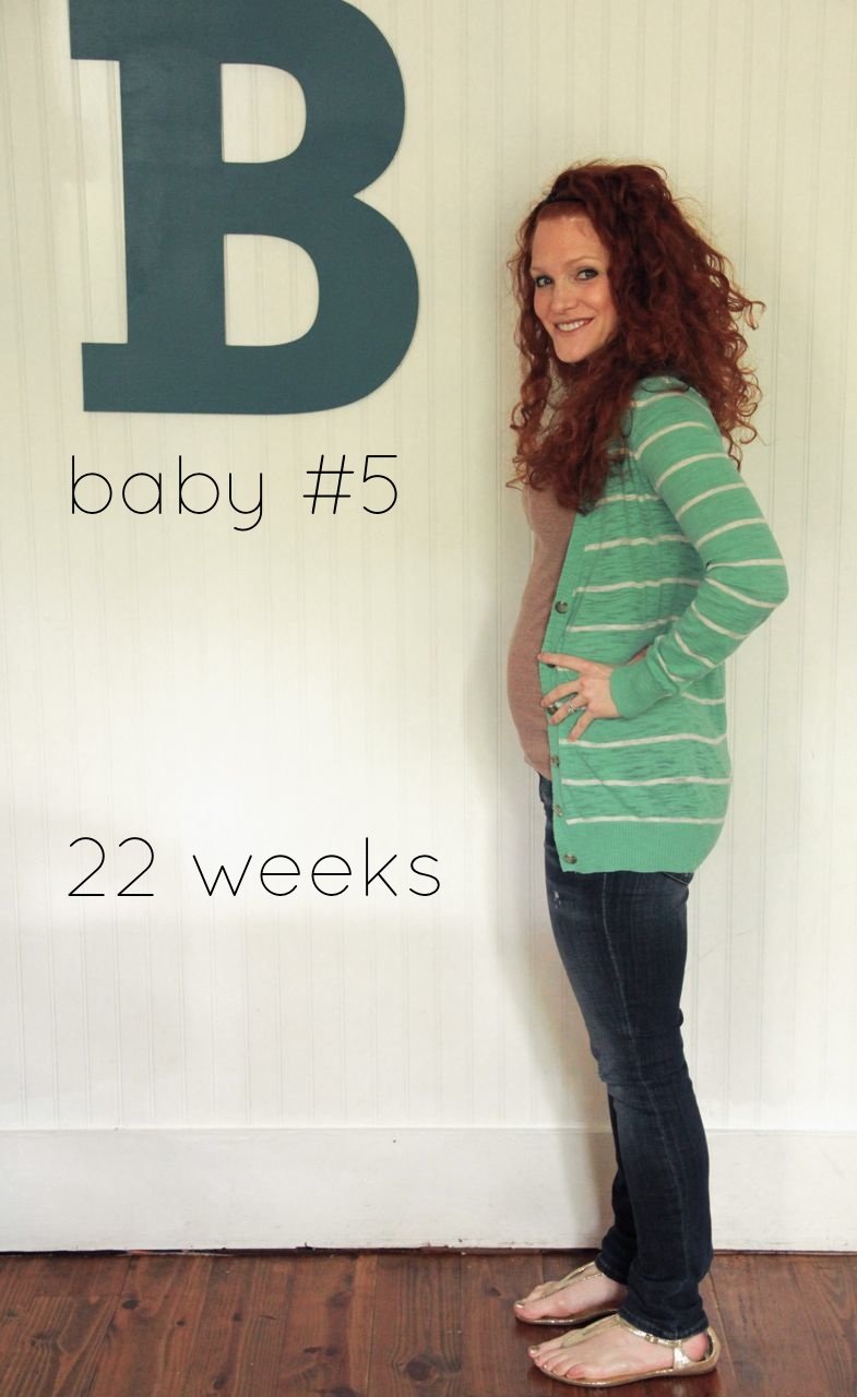 22 weeks hey we re officially on the downhill side now d