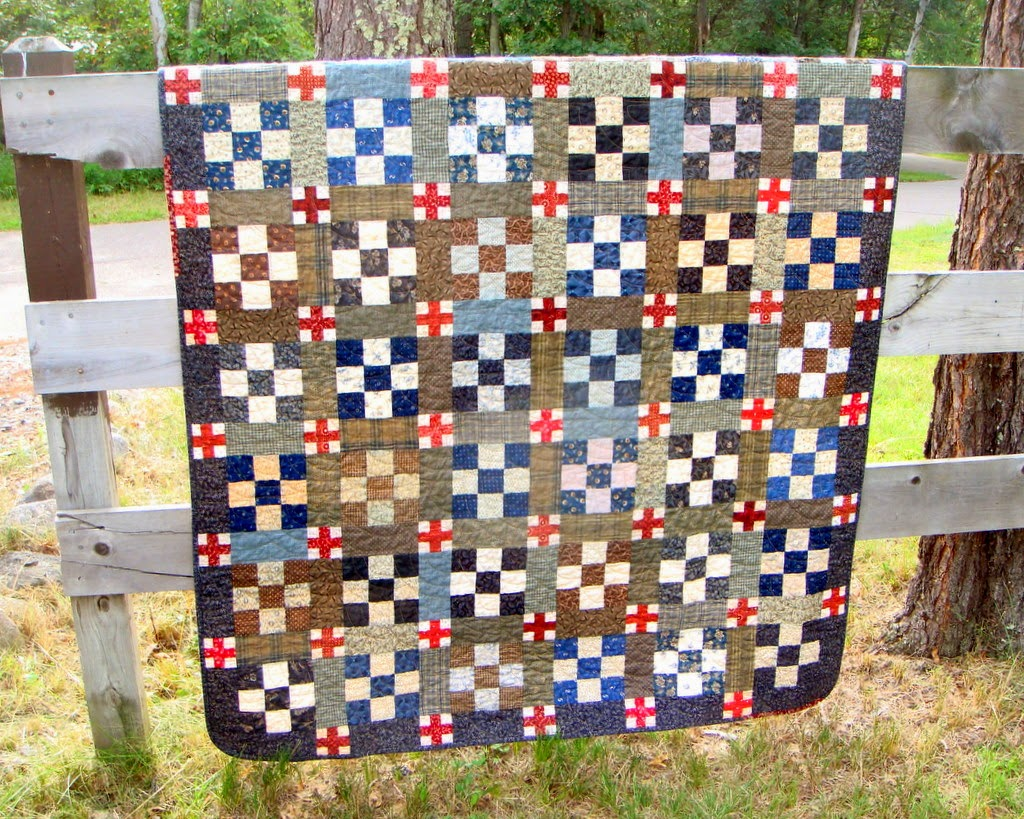 red cross quilt