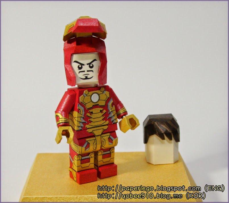 Lego Iron Man Papercraft