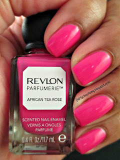 revlon parfumerie, african tea rose, scented, nail polish, swatch