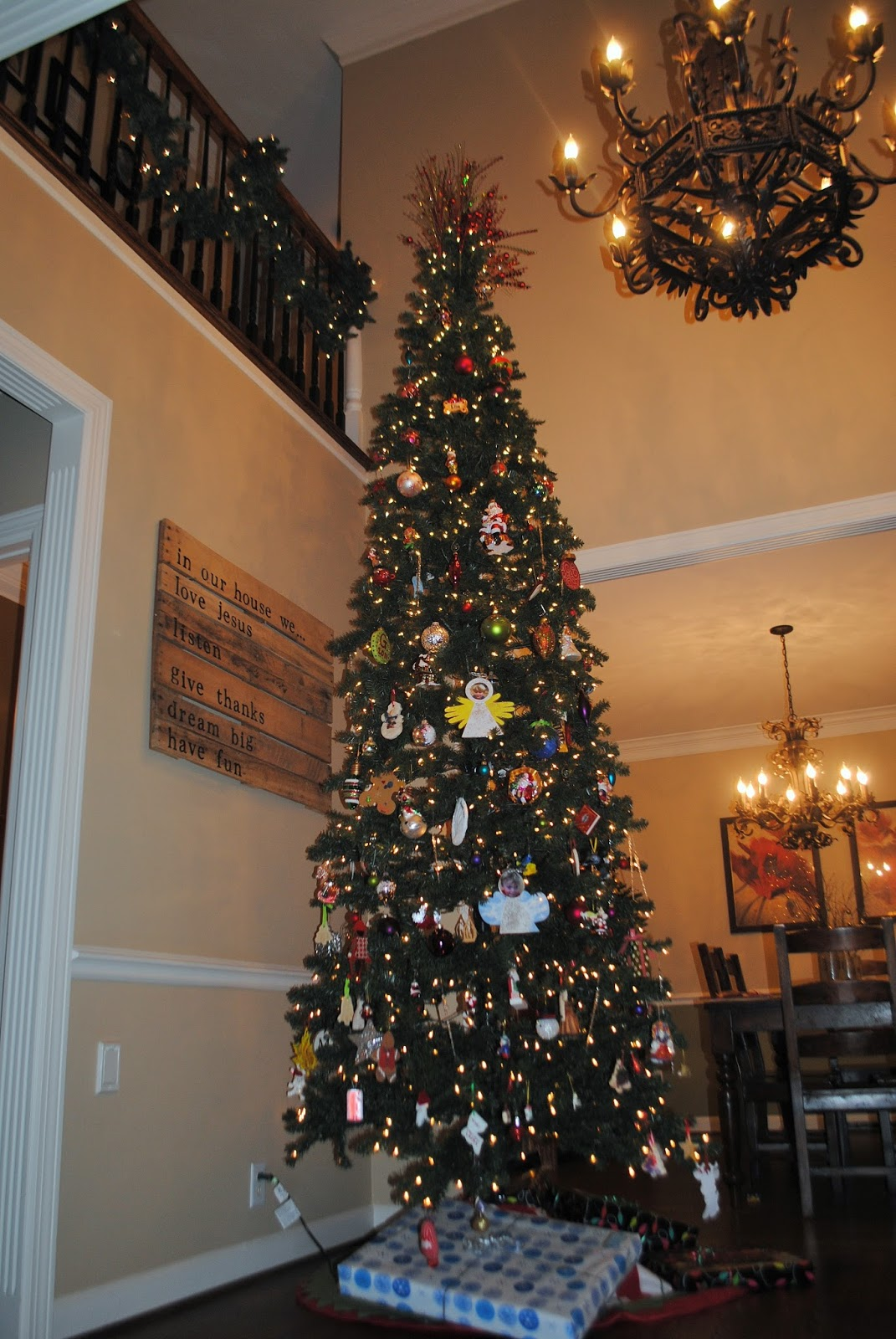 this tree is bens dream come true he has always wanted a spot for a huge christmas tree and now he has a 2 story foyer this 12 foot - 12 Foot Christmas Trees