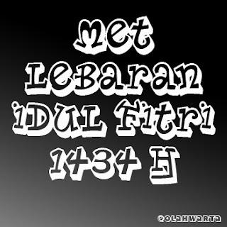 Ucapan Selamat Lebaran Idul Fitri 2013 1434 H
