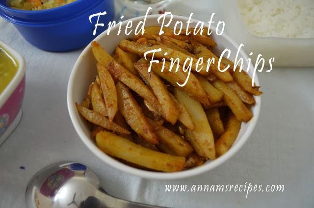 Fried Potato Finger Chips