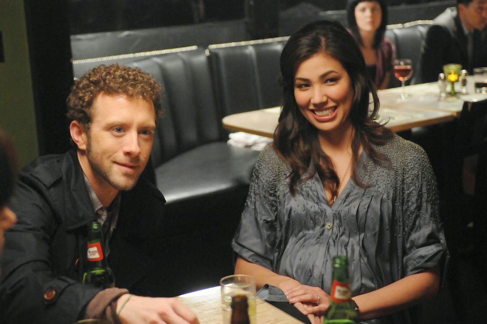 Michaela Conlin was rumored to be in a relationship with T.J. Thyne
