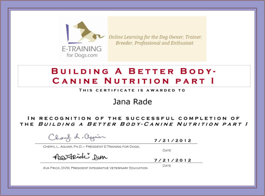 No Longer Certifiable? My Canine Nutrition Course | Dawg Business ...
