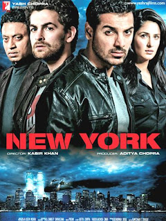 New York (Hit movie released in 2009) - Starring John Abraham, Katrina Kaif, Neil Nitin Mukesh, and Irrfan Khan