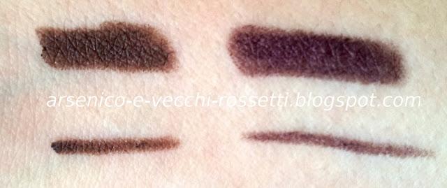 Kiko Double Glam Eyeliner #09 Plum & Wood swatch