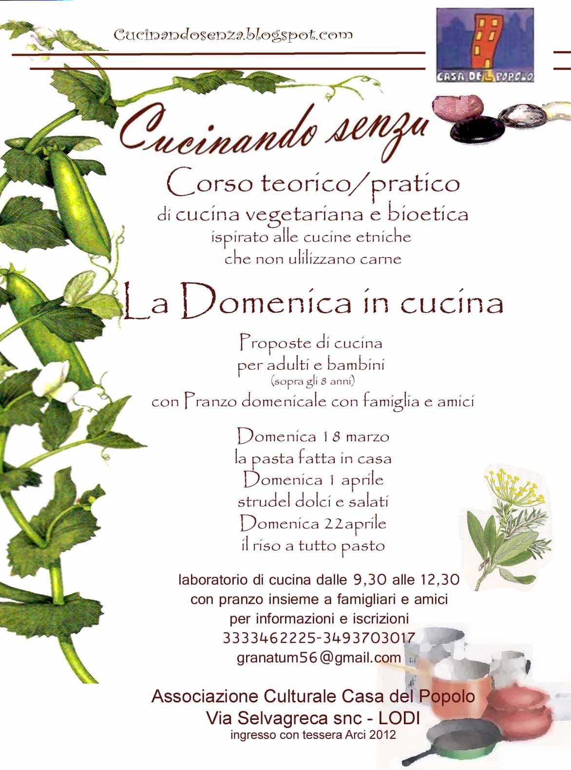 cucinando senza .....: nuovi corsi di cucina - Corso Cucina Vegetariana