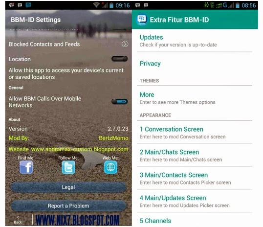 BBM Transparan V.2.7 With Ekstra Fitur