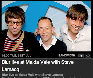 blurmaidavale, blur live gig, blur steve lamacq, blur bbc2