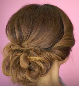 Easy Twist Updo Hairstyle Tutorial