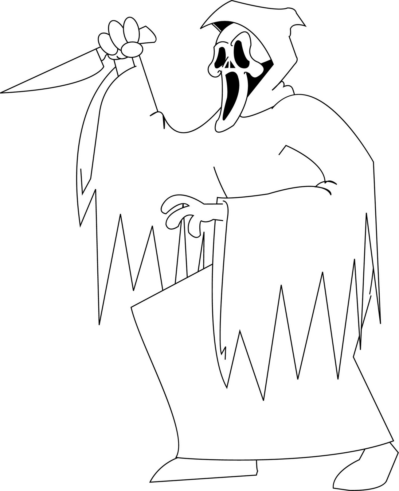 horror coloring pages 05. halloween michael myers free wallpaper ...