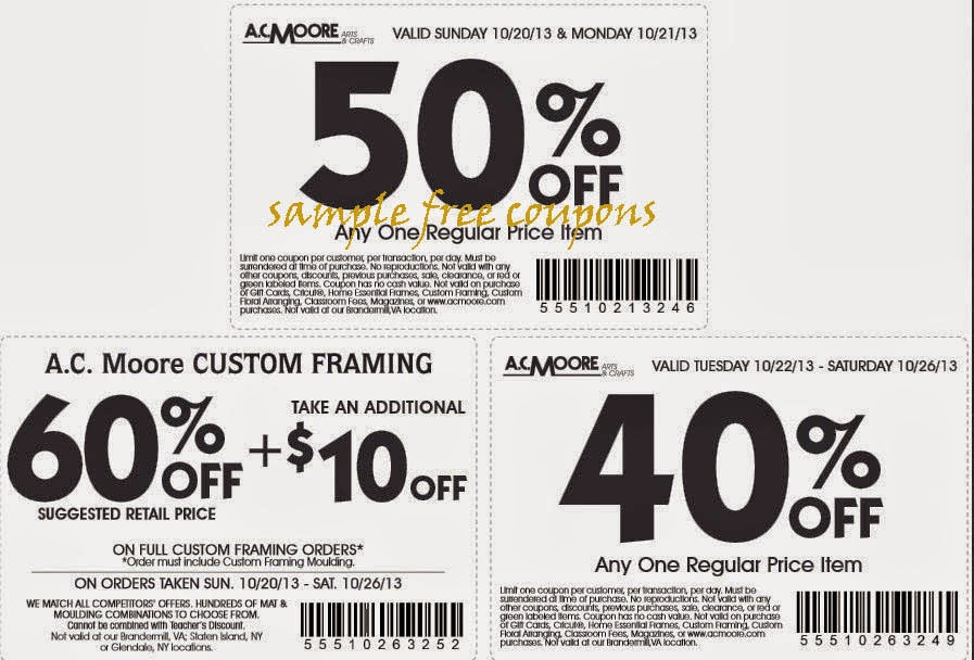 Printable coupons for ac moore 2018 : Diapers coupons online