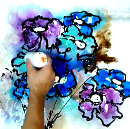 Abstract art modern painting techniques by peter dranitsin for How to paint flowers with acrylics on canvas