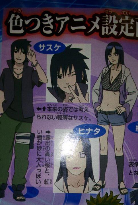 Sketsa Hinata Sexy dan Sasuke Narsis di NS Movie 6