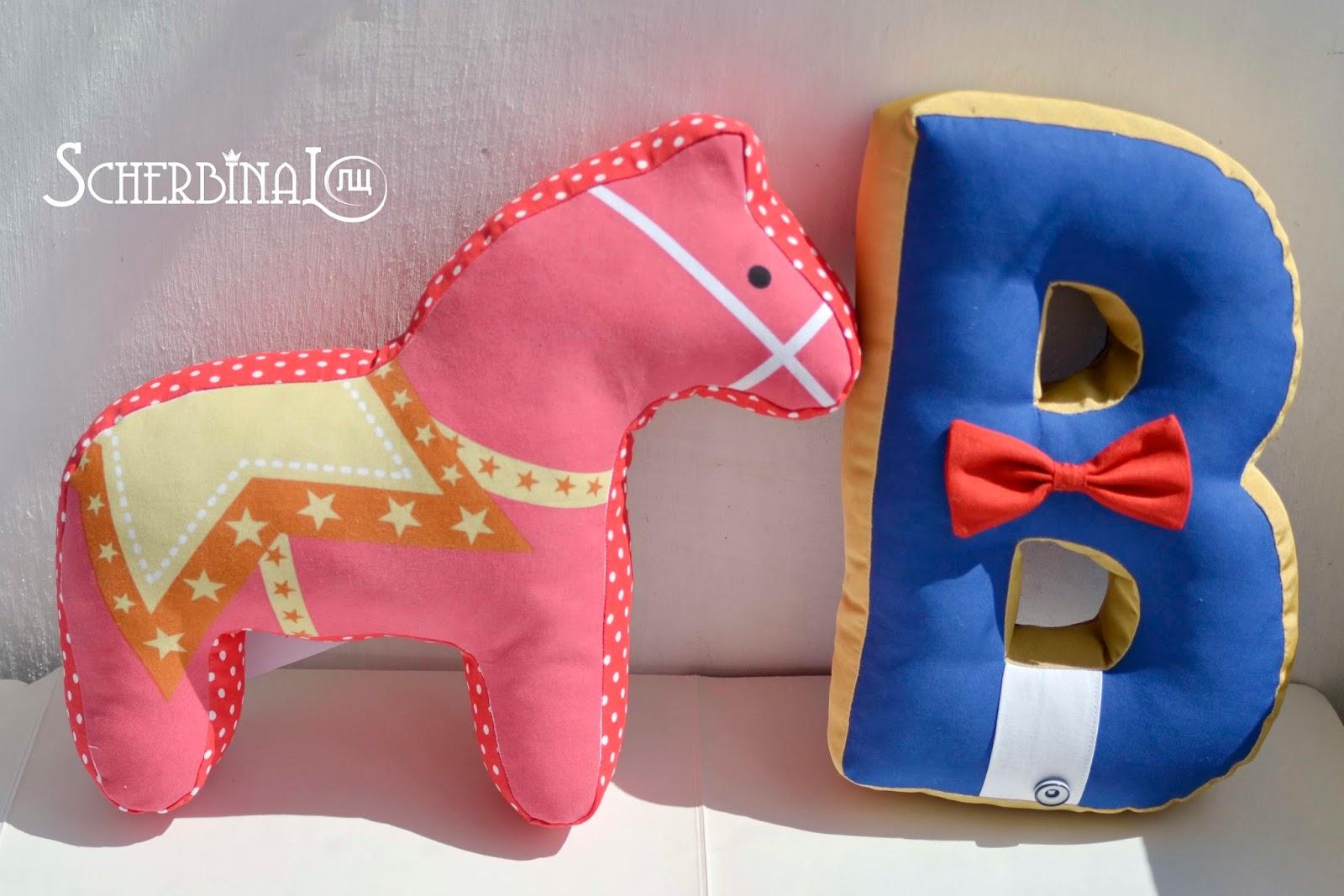 игрушки-подушки, подушки буквы, лошадки, ручная работа