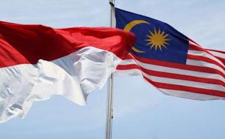 Bendera Indonesia - Malaysia
