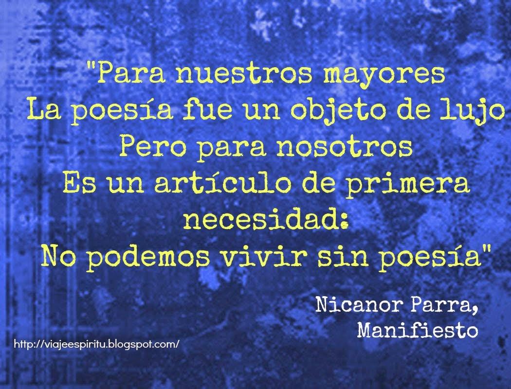 Nicanor Parra, Manifiesto