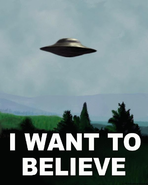 flying saucer picture says I want to believe