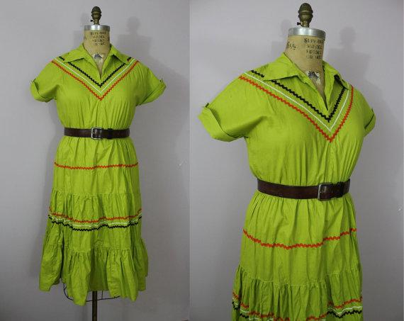 50s patio dress