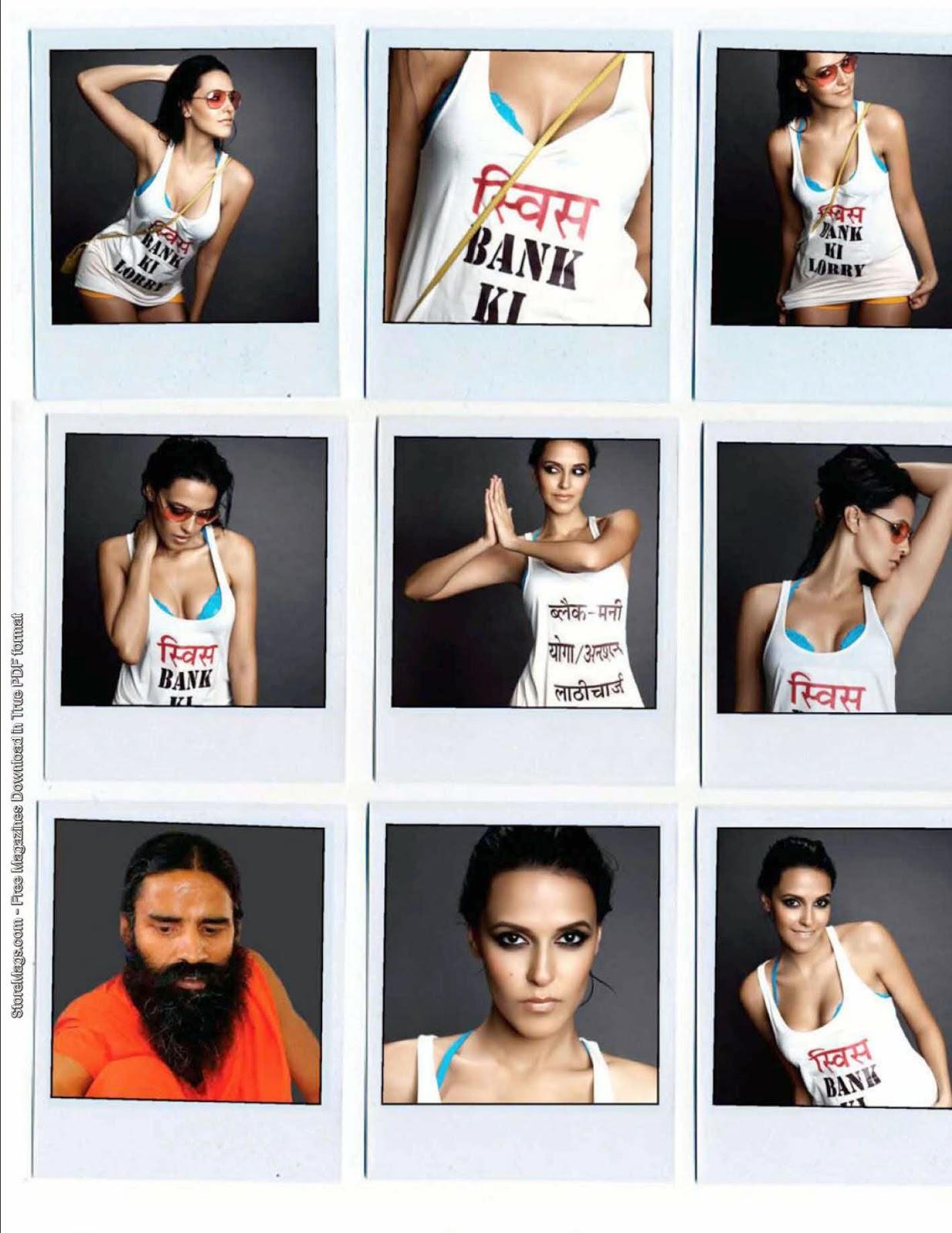 Neha Dhupia FHM India July 2011 Magazine photos collage