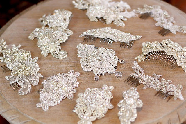 bridal lace headpieces created in Adelaide, by Katie Dawson -  Perle Jewellery & Makeup