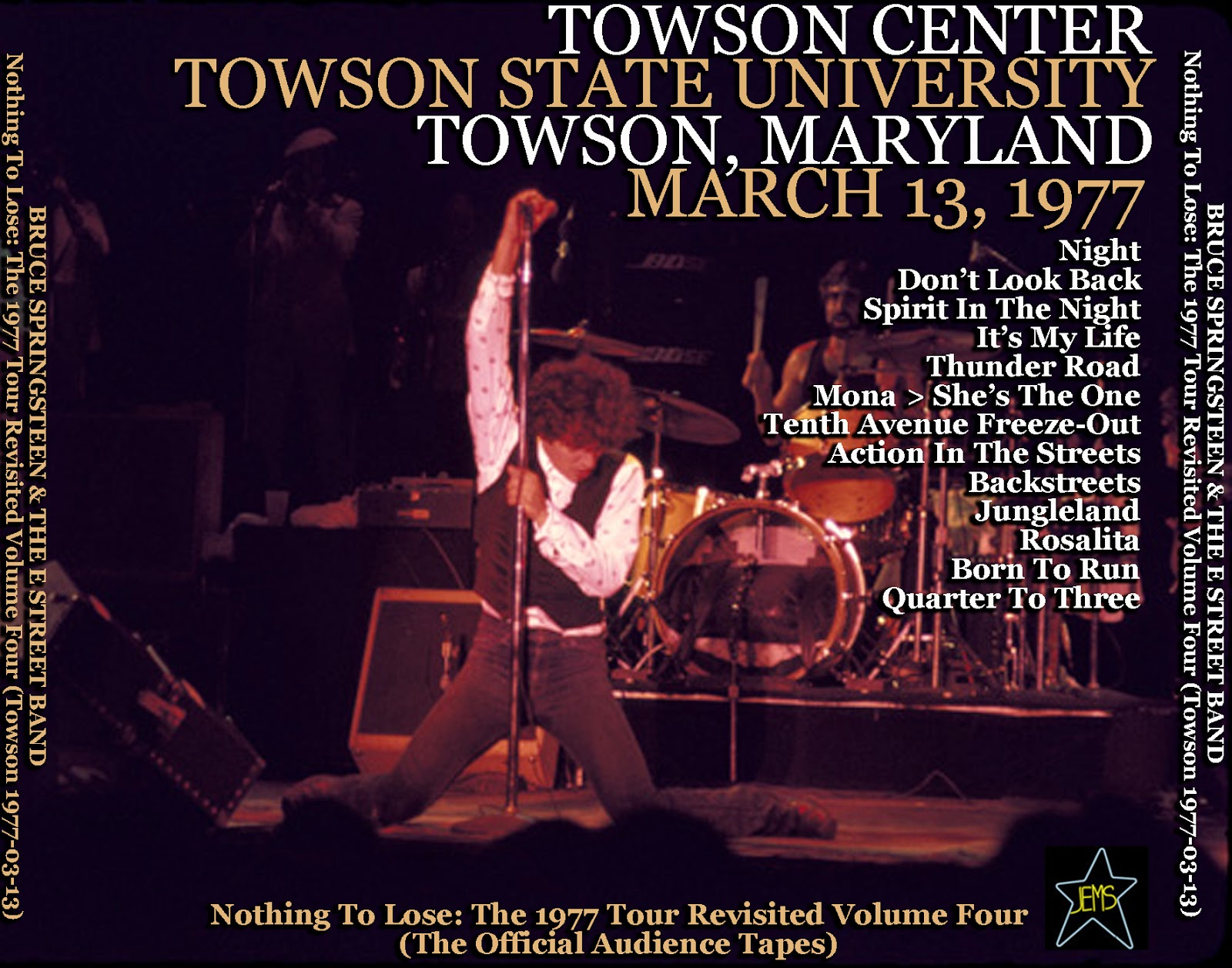World of bootlegs bootleg bruce springsteen towson for 13th floor with diana live dvd