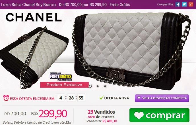 http://www.tpmdeofertas.com.br/Oferta-Luxo-Bolsa-Chanel-Boy-Branca---De-R-70000-por-R-29990---Frete-Gratis-982.aspx