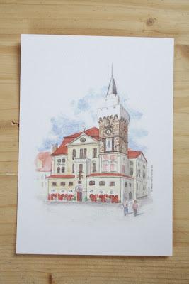 Löbau Rathaus Aquarell