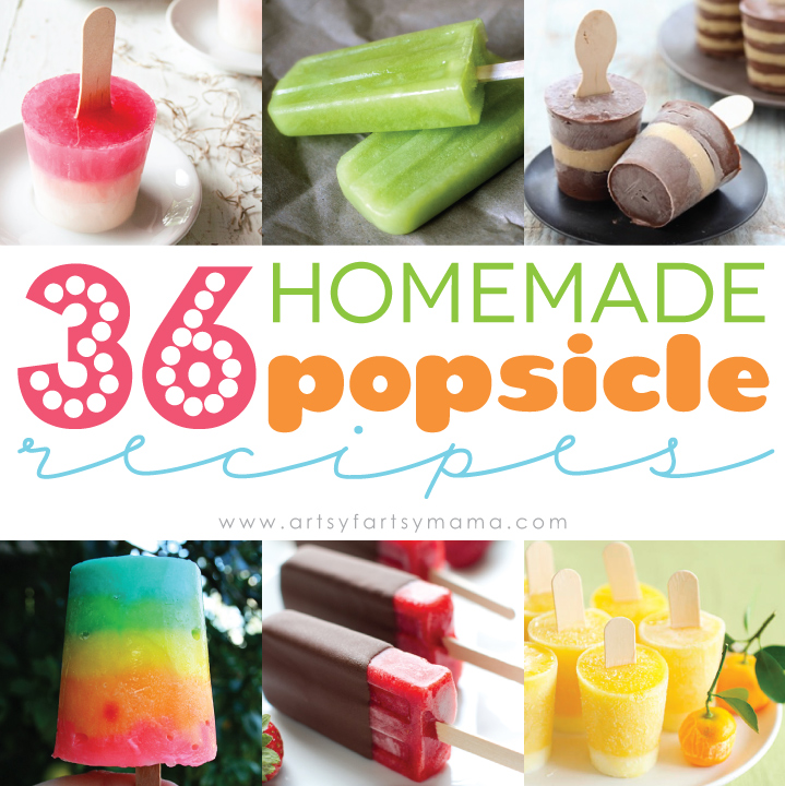 30 Homemade Popsicle Recipes at artsyfartsymama.com