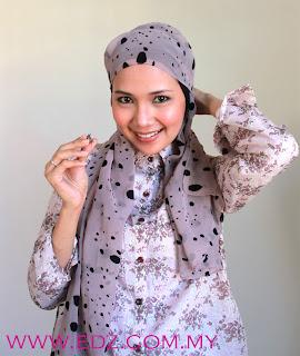 Tutorial - Cara pakai shawl selendang macam Yan ringkas cuma 10 saat