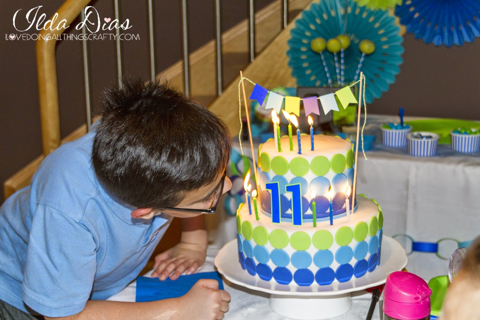 And Here Is My 11 Year Old Blowing Out His Candles