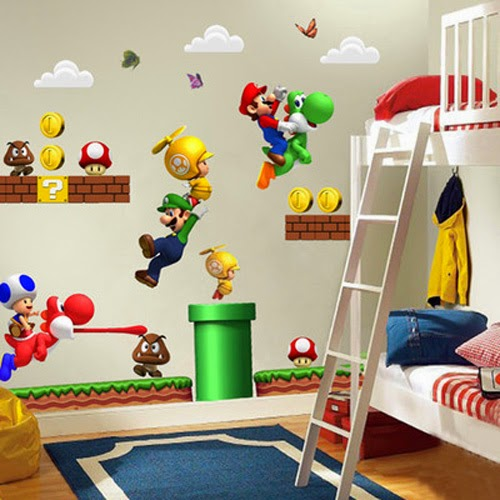 Un dormitorio tema Mario Bros - Dormitorios colores y estilos