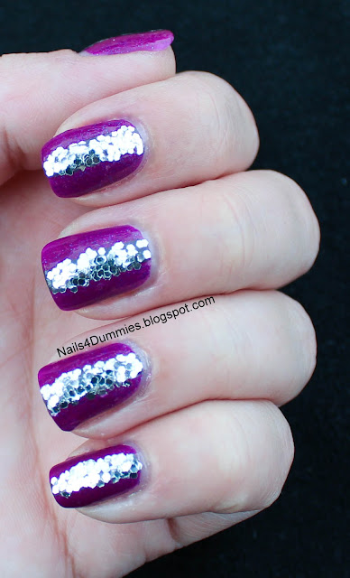 China Glaze Flying Dragon glitter mani
