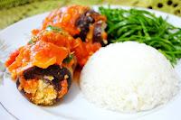 Berinjela à Rolê Recheada com Tofu (vegana)