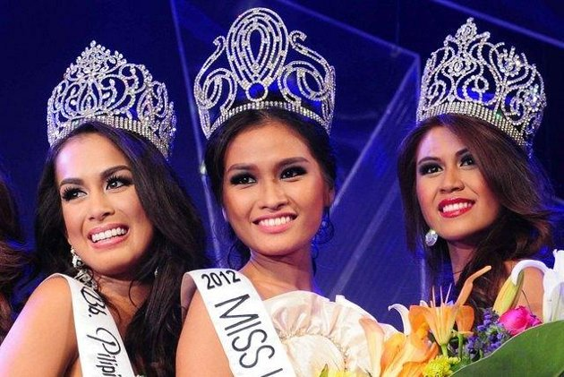 Bb Binibining Pilipinas 2012 winners Nicole Schmitz, Janine Tugonon and Katrina Jayne Dimaranan