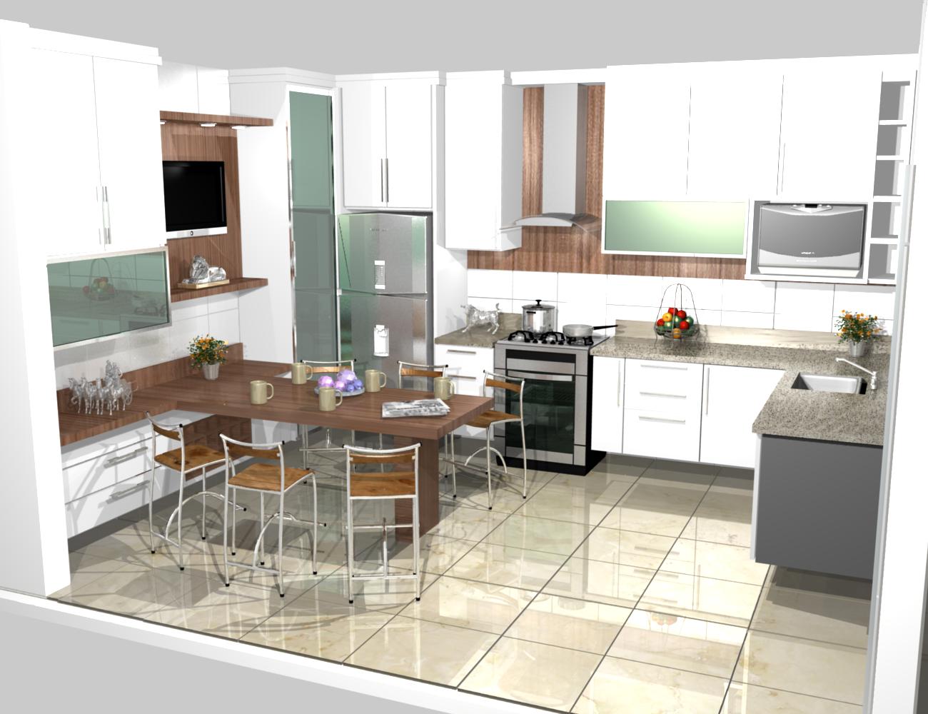 Cozinha planejadas pequenas decorada americana modulada for Casas pequenas modernas