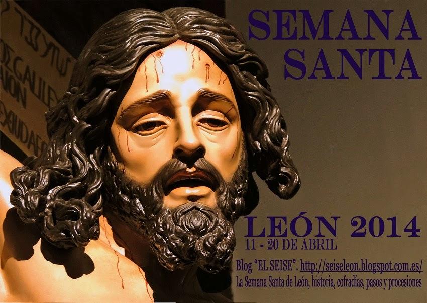 Semana Santa de León 2014. Cartel del blog EL SEISE. Foto G. Márquez