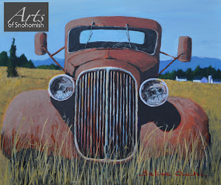 Antique Truck painting by Sakae Ouchi of Arts of snohomish