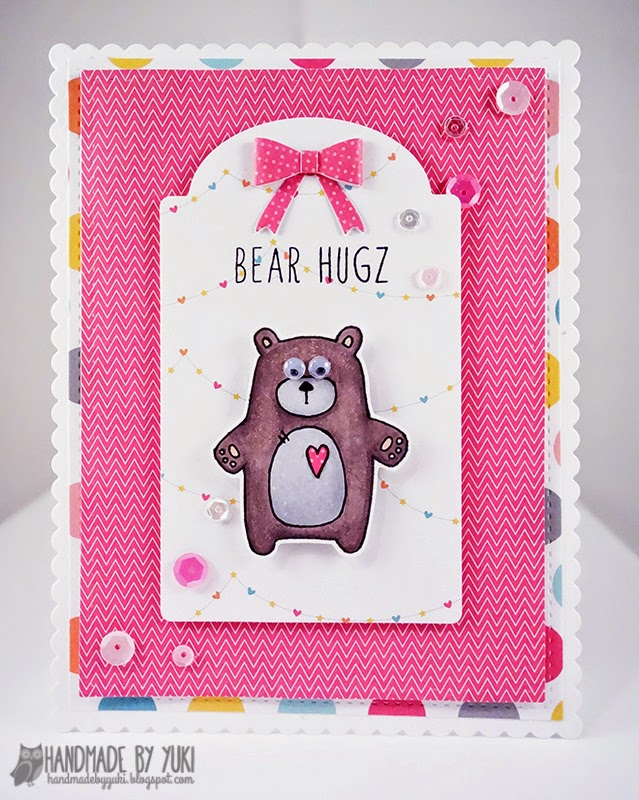 Bear Hugz Card by Handmade By Yuki | Abby's Spring Showers by Simon Says Stamp