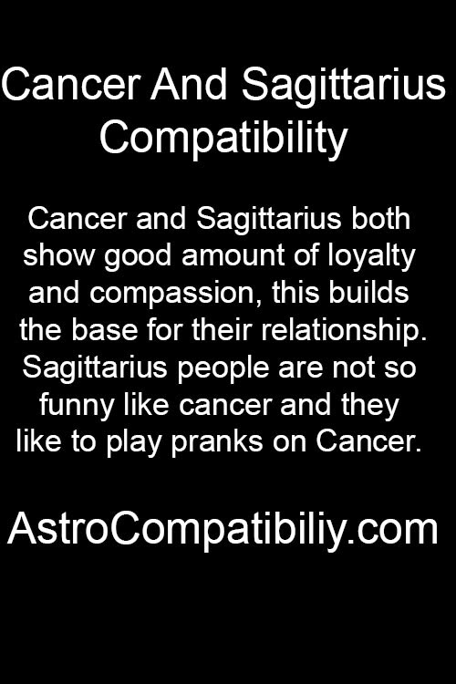 zodiac sagittarius and cancer