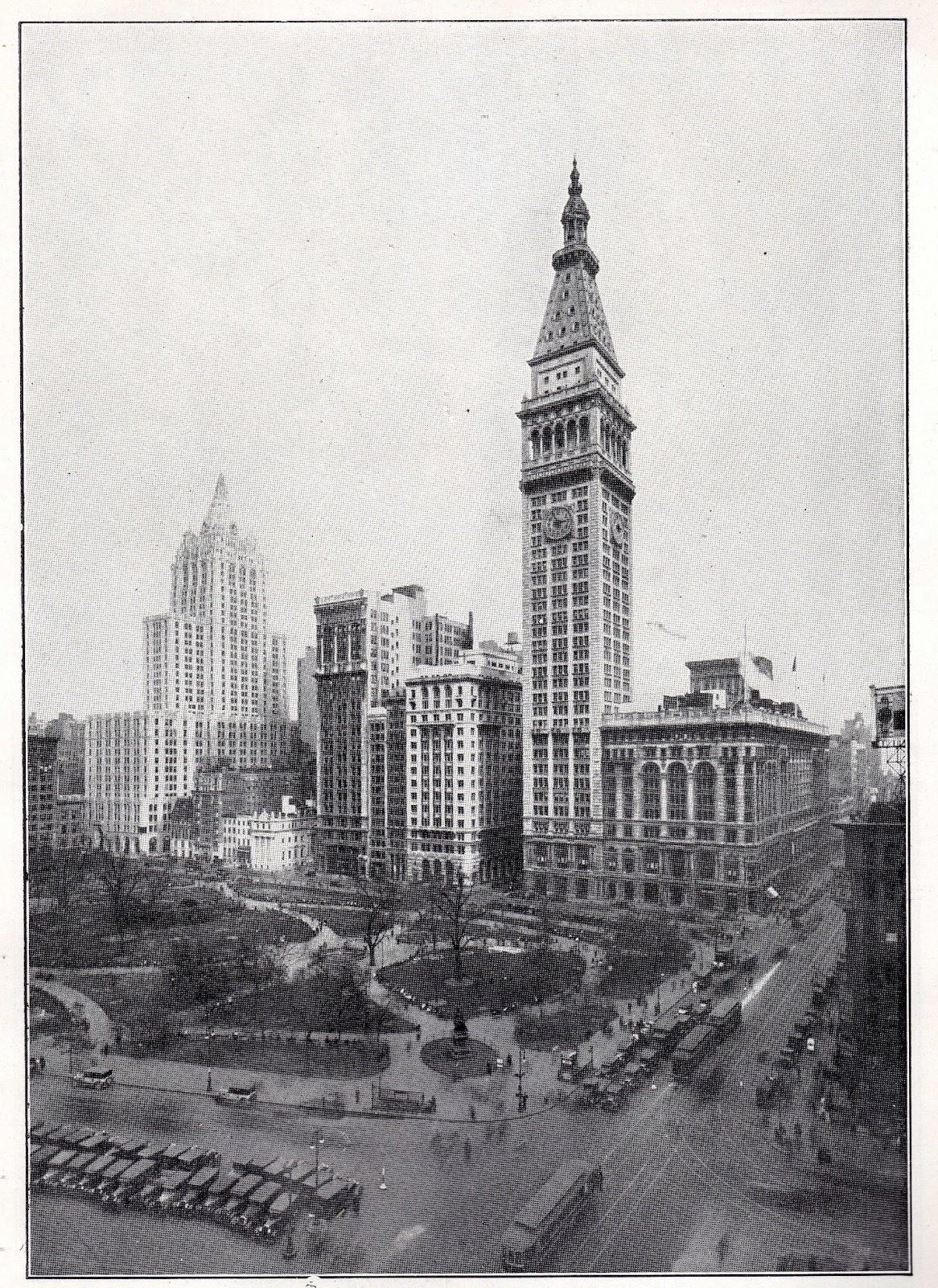 Historia de los Rascacielos de Nueva York Manhattan en 1929 la