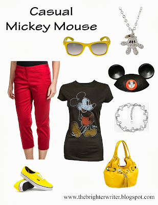 Casual Mickey Mouse for any Disneyland or Disneyworld vacation! www.thebrighterwriter.blogspot.com