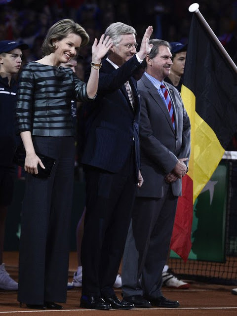 Belgium Royals Attend The Opening Ceremony Of Davis Cup Final 2015