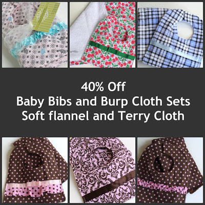 Buy baby bibs and burp cloths sets on sale now at SSorensenDesigns