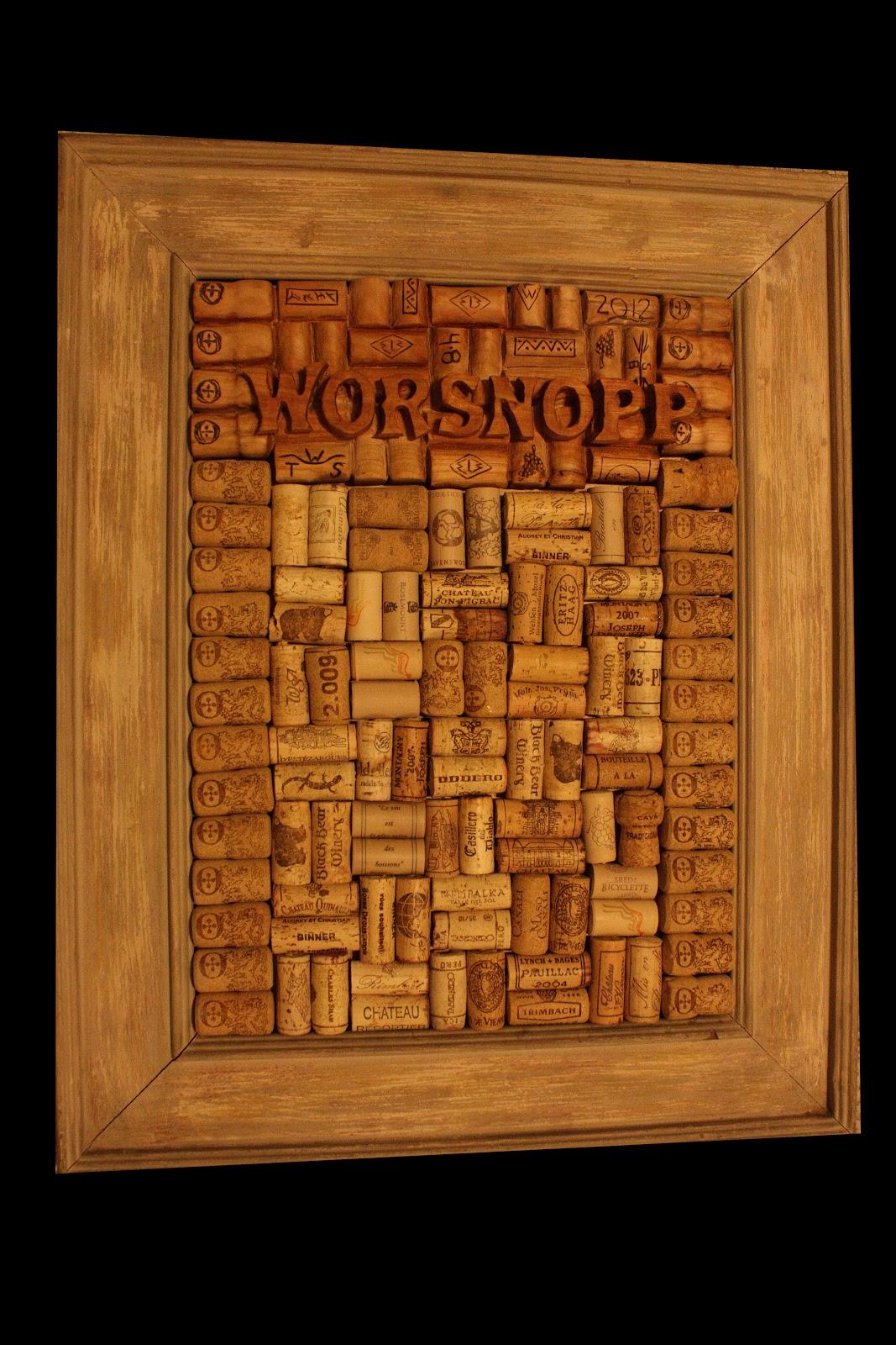 Tabla de corcho hecho de cerezo y corcho will worsnopp - Tabla de corcho ...