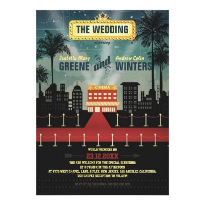 Now Playing - Movie Themed Fun Wedding Invite