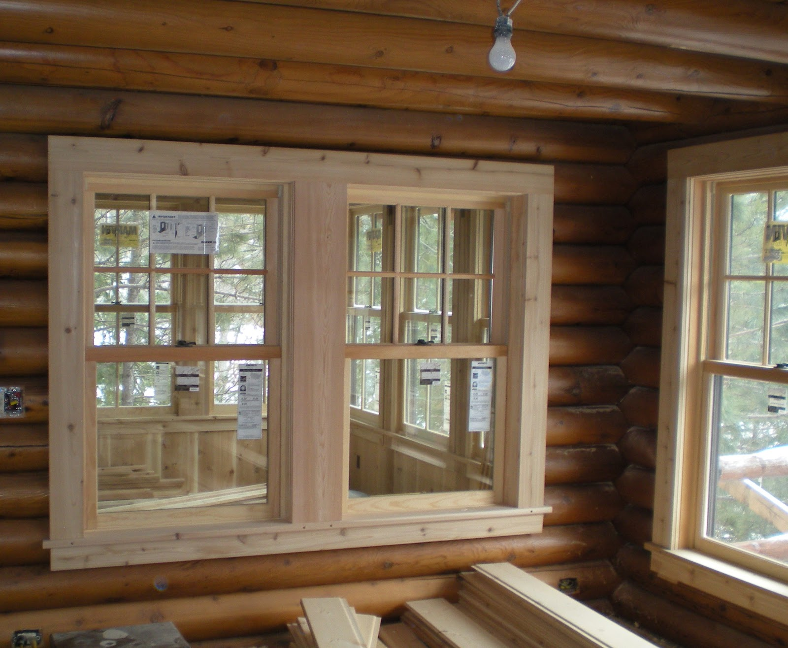 Projects progress thoughts stuff for Log home windows