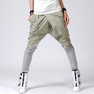 asymmetric trousers. male harem pants